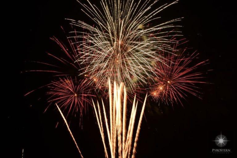 Feuerwerks-Szene