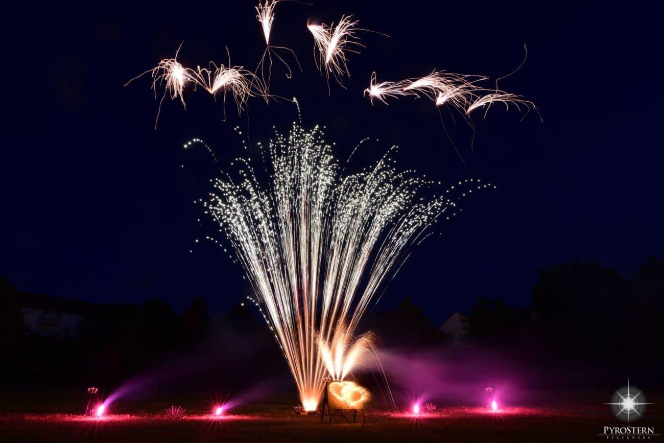 Feuerwerk für eine Hochzeit am Cavallo in Hannover