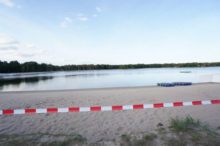 gesperrter Strand für Musikfeuerwerk am Tankumsee