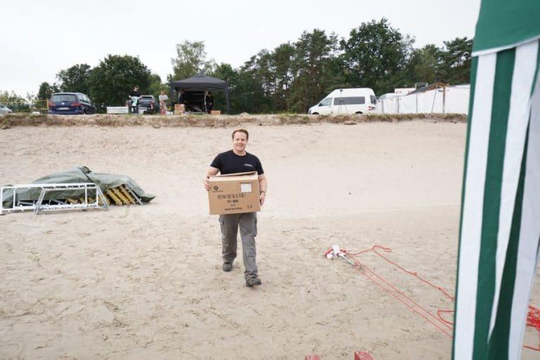 Pyrotechnik im karton für Tankumsee