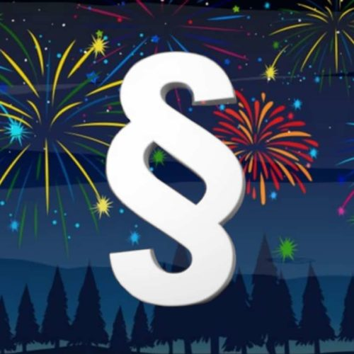 Rechtliches zum Silvester-Feuerwerk
